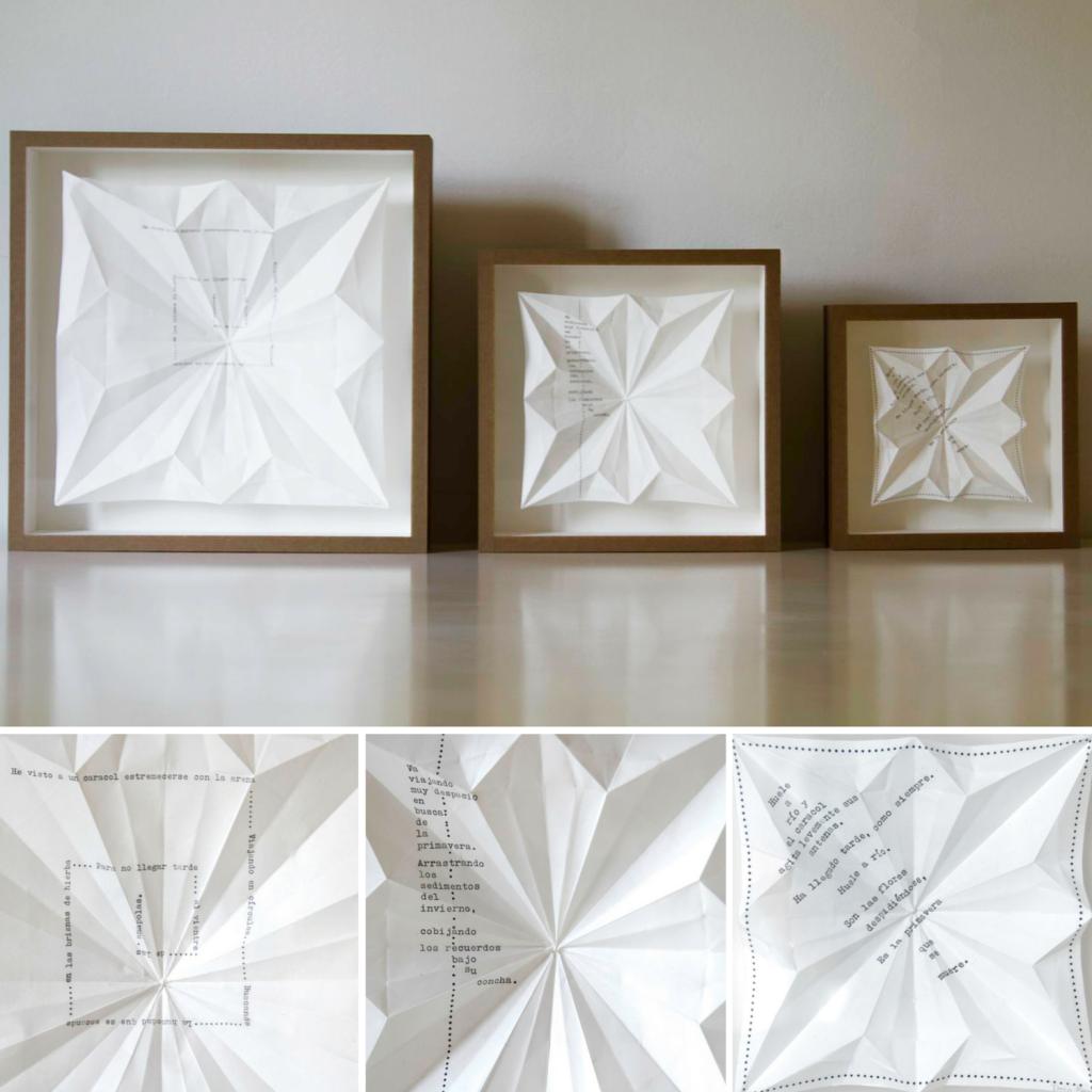 serie y detalles de origami