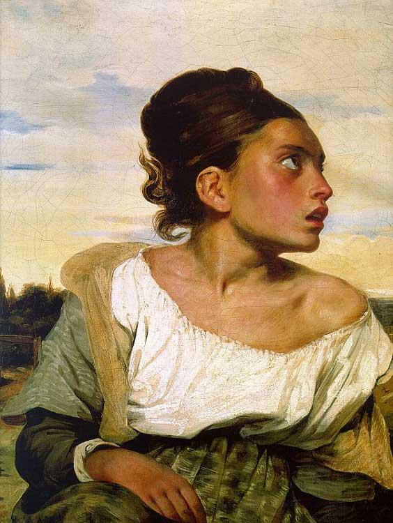 Niña huérfana en el cementerio. Delacroix