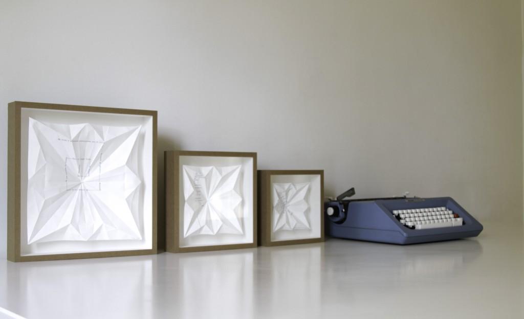 Serie origami. El caracol si sabe a dónde va