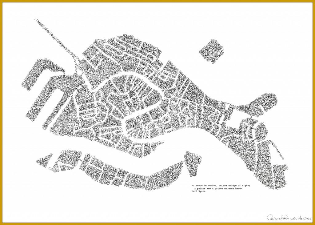 Ilustración de Venecia. Carmelo Ros.