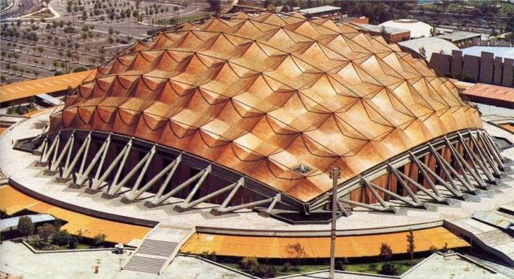 Icono de la arquitectura del siglo XX. Palacio de los deportes México. Felix Candela