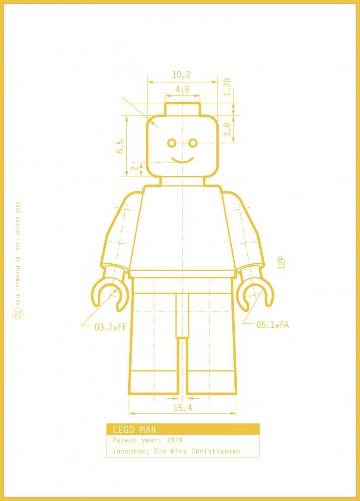 Lego Man por Minimae
