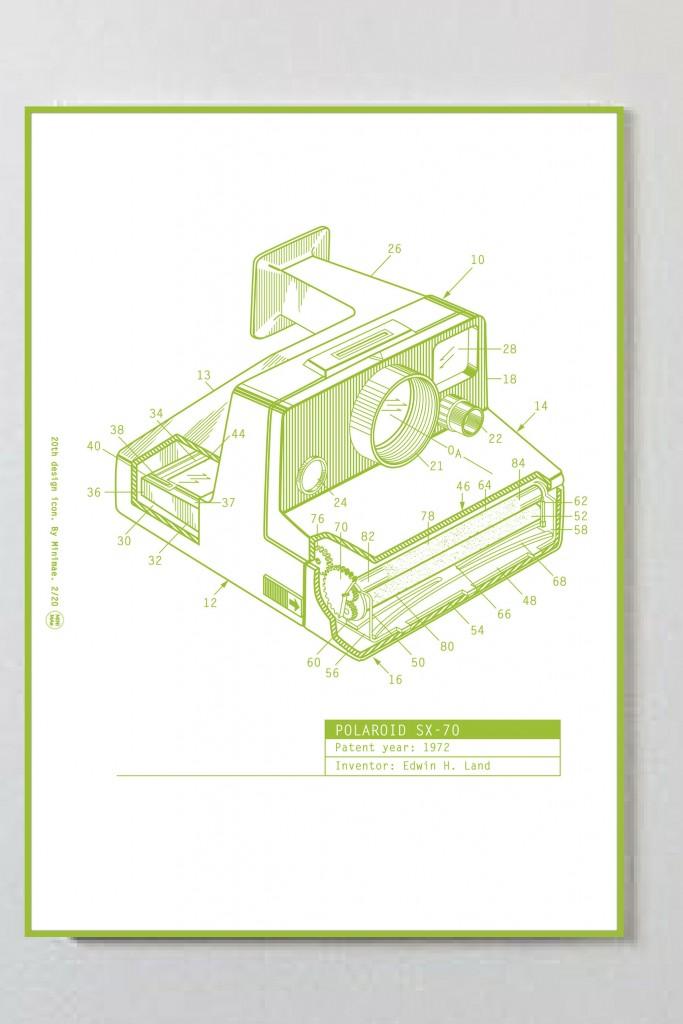 Polaroid sx-70 por Minimae