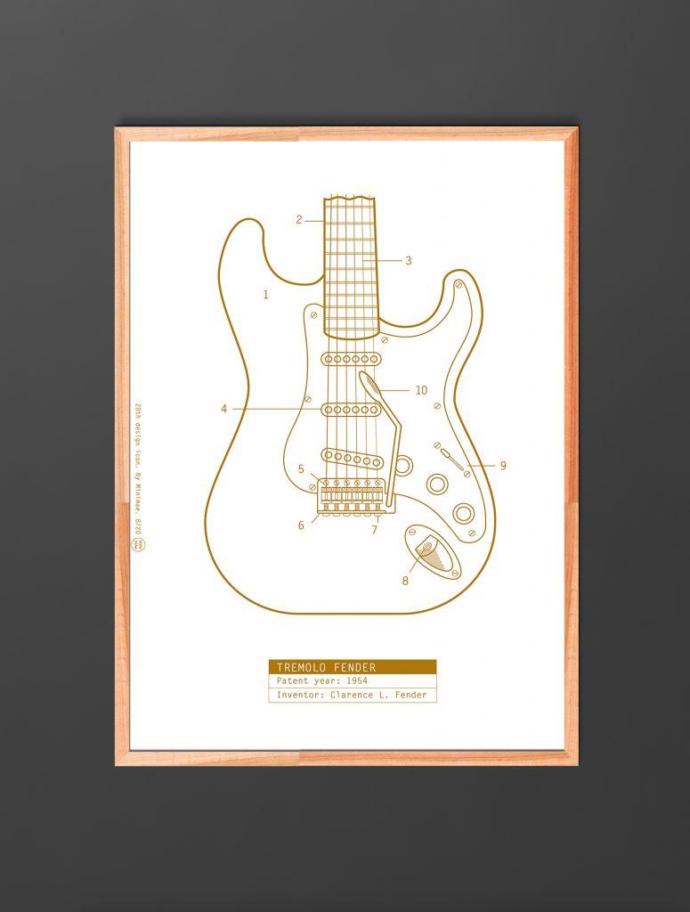 fender stratocaster. Patente