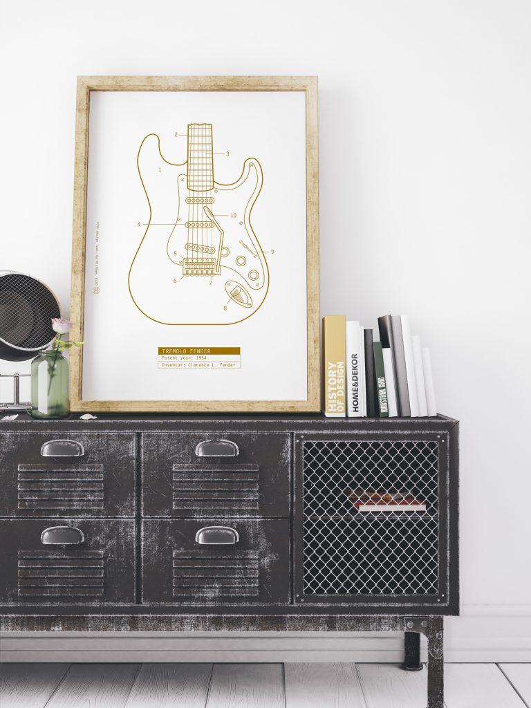 fender stratocaster. patente.