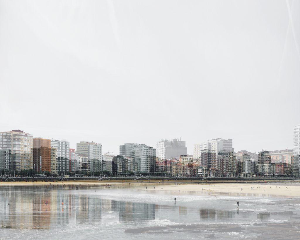 Lizuaín. fotografía playa de San Lorenzo Gijón