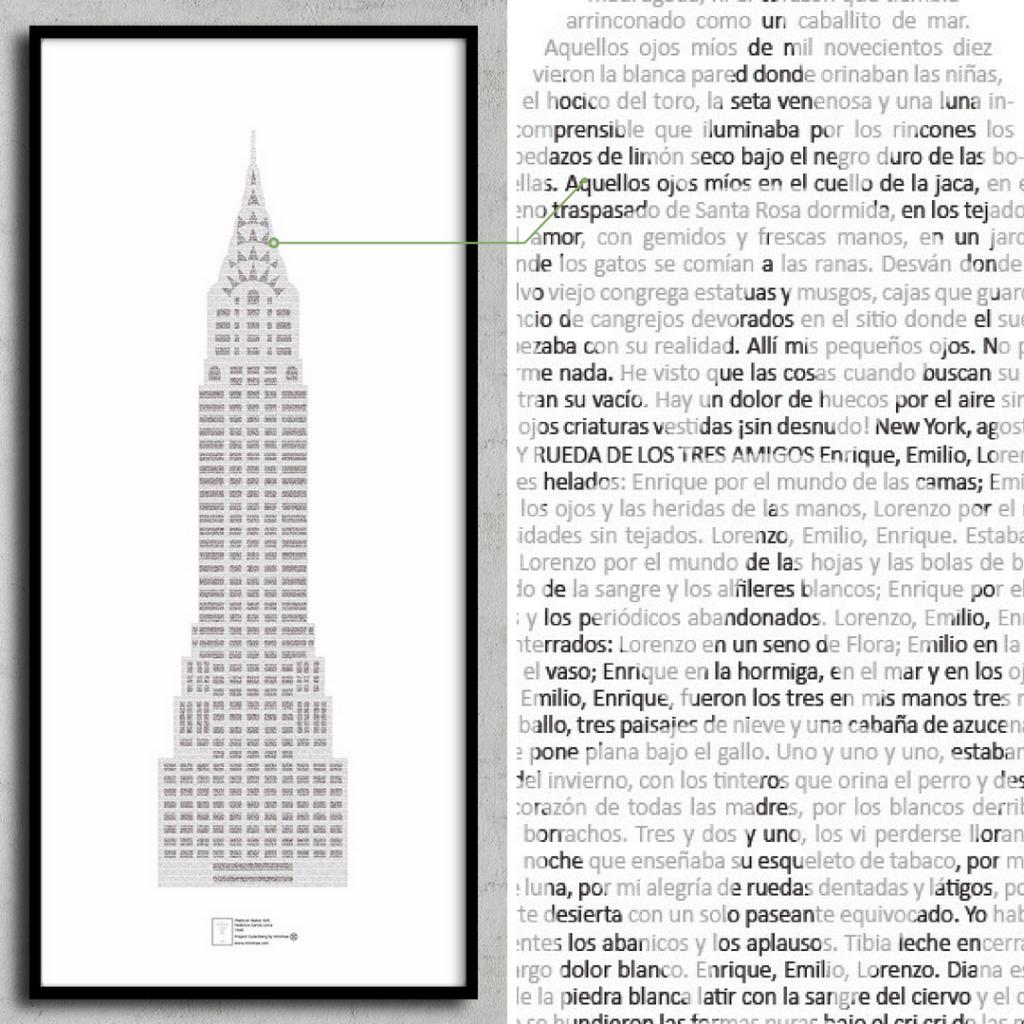 Poeta en Nueva York. Texto completo en una lámina